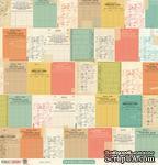 Лист двусторонней скрапбумаги от October Afternoon - Due Date Paper - Public Library, 30x30 см - ScrapUA.com