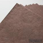 Тутовая бумага ручной работы, цвет коричневый, формат А4 - ScrapUA.com