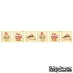 Двусторонний лист с картинками от Galeria Papieru - Herbatka dla Dwojga-owoce, 5х15см,1 шт. -GP-009-01  - ScrapUA.com
