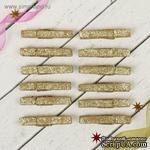 "Прищепки от АртУзор - ""Блеск"", золото, 1 штука - ScrapUA.com"