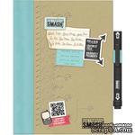 Книга для записей от K&Company - Retro Blue SMASH Folio, размер: 19,7х26,1 см. - ScrapUA.com