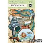 Наклейки от K&Company: Морские животные, кардсток, Путешествие - ScrapUA.com