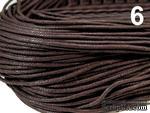 Вощеный шнур Chocolate Brown, 1,5 мм, цвет шоколадный, 5 метров - ScrapUA.com