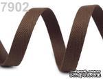 Саржевая лента, ширина 10мм, цвет коричневый темный, 90см - ScrapUA.com