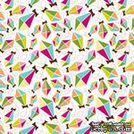 Двусторонний лист картона от American Crafts с глиттером - Bell Park, City Park, 30х30 см, 1 шт. - ScrapUA.com
