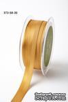 Репсово-сатиновая лента - Двойная полоса - золотая, ширина - 16 мм, длина 90 см - ScrapUA.com