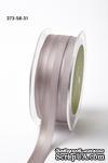 Репсово-сатиновая лента - Двойная полоса - серебряная, ширина - 16 мм, длина 90 см - ScrapUA.com