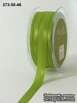 Репсово-сатиновая лента - Двойная полоса - салатовая, ширина - 16 мм, длина 90 см - ScrapUA.com