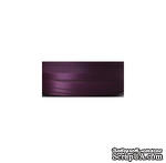 Репсово-сатиновая лента - Двойная полоса - сливовая, ширина - 16 мм, длина 90 см - ScrapUA.com