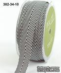 Лента Twill and Stripes,  NAVY, цвет синий/белый, ширина 1,9 см, длина 90 см - ScrapUA.com