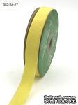 Лента Twill and Stripes, цвет желтый/белый, ширина 1,9 см, длина 90 см - ScrapUA.com