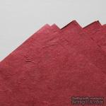 Тутовая бумага ручной работы, цвет бордовый, формат А4 - ScrapUA.com