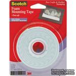 Скотч двухсторонний объемный на пенной основе - Scotch Foam Mounting Tape, 12,7мм х 3,81 метров - ScrapUA.com
