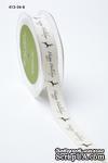 """Хлопковая принтованная лента с надписью """"Happy Holidays"""", ширина - 19 мм, длина 90 см - ScrapUA.com"""