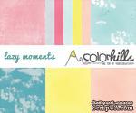 Набор бумаги, фишек и штампов от Color Hills - Коллекция Lazy moments, 16 элементов - ScrapUA.com