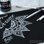 Белая гелевая ручка Amazing color, ТМ Santi, 1 штука. - ScrapUA.com