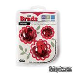 Брадсы от We R Memory Keepers -  Basic Brads Painted - Red - ScrapUA.com