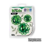 Брадсы от We R Memory Keepers - Basic Brads Painted - Green - ScrapUA.com