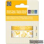 Бумажный скотч Yellow Washi Tape, длина 16 м, ширина 10-15 мм, 2 шт. - ScrapUA.com
