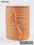 Лента Solid/Diagonal Stripes, цвет красный/белый, ширина 3 мм, длина 90 см - ScrapUA.com