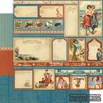 Лист скрапбумаги Graphic 45 - Place in Time - July Cut-Aparts, 30х30 см, двусторонняя - ScrapUA.com
