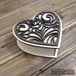 Шкатулка сердечко, 125*115мм, высота 45мм - ScrapUA.com