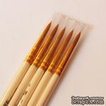 Кисть из синтетики круглая. Ручка короткая 1310, №5 - ScrapUA.com