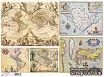 """Декупажная карта """"Старинные карты"""", 29,5х40 см - ScrapUA.com"""