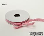 Сатиновая лента с узловатой кромкой - розовая, ширина - 10 мм, длина 90 см - ScrapUA.com