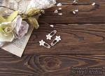 Чипборд от WOODchic - Набор булавок с цветочками - ScrapUA.com