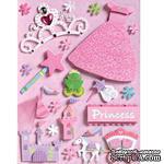 Объемные наклейки от  K&Company - Sparkly sweet princess grand - ScrapUA.com
