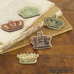 ЦЕНА СНИЖЕНА! Набор деревянных украшений Prima - Короны - Crown Embellishments - ScrapUA.com
