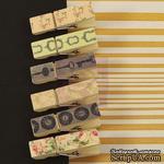 ЦЕНА СНИЖЕНА! Набор деревянных прищепок Prima - Canvas Wood Clips Tea Thyme - ScrapUA.com