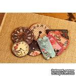 ЦЕНА СНИЖЕНА! Набор деревянных украшений Prima - Часы и билетики - Wood Clocks & Tickets Rosarian - ScrapUA.com