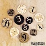 ЦЕНА СНИЖЕНА! Набор деревянных украшений-пуговиц Prima - Wood Buttons - Engraver - ScrapUA.com