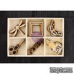 ЦЕНА СНИЖЕНА! Деревянные украшения Prima - Stationer's Desk - Wood Embellishments - ScrapUA.com