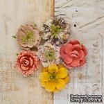 ЦЕНА СНИЖЕНА! Набор цветов от Prima - Princess Flower- Glass slippers, 6 шт - ScrapUA.com