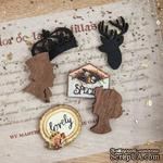 ЦЕНА СНИЖЕНА! Деревянные украшения Prima - Wood Icons - Cigar Box Secrets, 24 штуки - ScrapUA.com