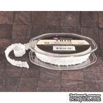 Вязаное кружево Prima - Lace Trim - Snow, цвет белый, 90 см - ScrapUA.com