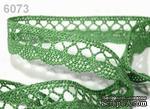 Кружево хлопчатобумажное, цвет темно-зеленый, ширина 18мм, 90см - ScrapUA.com