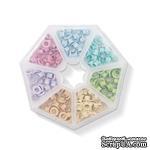 Набор люверсов с контейнером от WeR Memory Keepers – Pastel, 140 шт., 7 цветов - ScrapUA.com