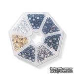 Набор люверсов с контейнером от WeR Memory Keepers – Metallics, 140 шт., 7 цветов - ScrapUA.com