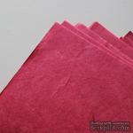 Тутовая бумага ручной работы, цвет розовый, формат А4 - ScrapUA.com