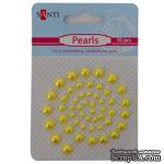 Набор жемчужин самоклеющихся желтый, 50 шт, ТМ Santi - ScrapUA.com