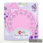Набор салфеток ажурных круглых ТМ Santi, цвет розовый, диаметр 11,4 см, 12 шт. - ScrapUA.com