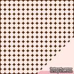 Лист двусторонней бумаги от American Crafts - Pebbles Paper - New Addition Girl - Sweet Dreams - Embossed Finish - ScrapUA.com