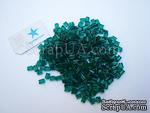 Краска рельефная по стеклу в гранулах, 5 гр (обжигается в домашней духовке), цвет: зеленый - ScrapUA.com