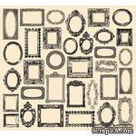Папиросная бумага 7 Gypsies - Collage Tissue - Creme - Frames - ScrapUA.com