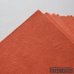 Тутовая бумага ручной работы, цвет оранжевый, формат А4 - ScrapUA.com