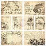 ЦЕНА СНИЖЕНА! Набор карточек от Prima - Everyday Vintage Pocket Paintables Cards - #1 - So Happy Together, 16 шт - ScrapUA.com